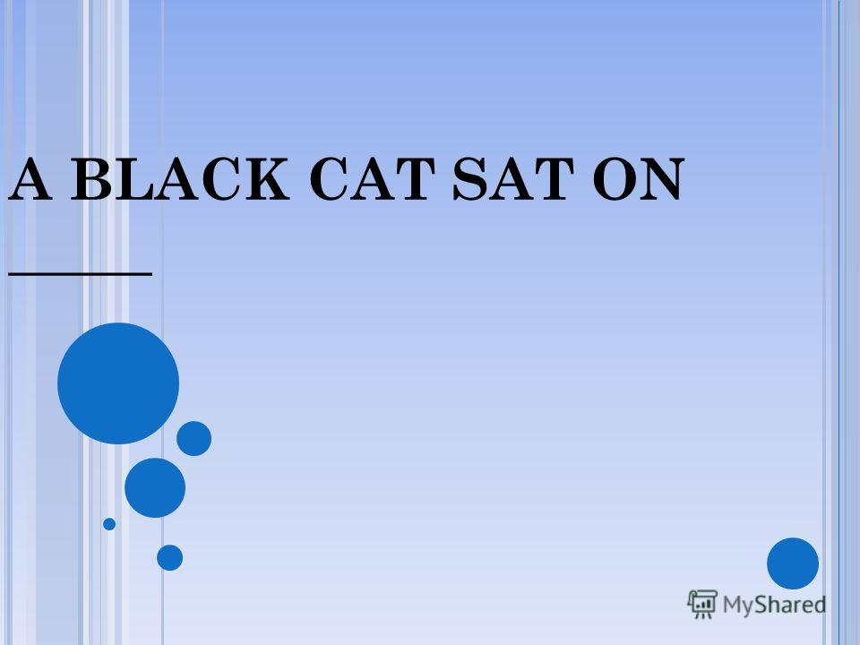 A BLACK CAT SAT ON A MAT