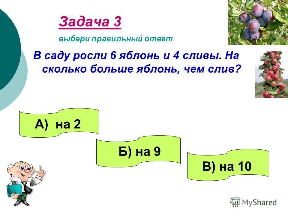 Задача 2 Коля и Витя поймали 7 лещей. Витя поймал 3 леща. Сколько лещей поймал Коля? выбери правильный ответ А) 4 Б) 10 В) 3
