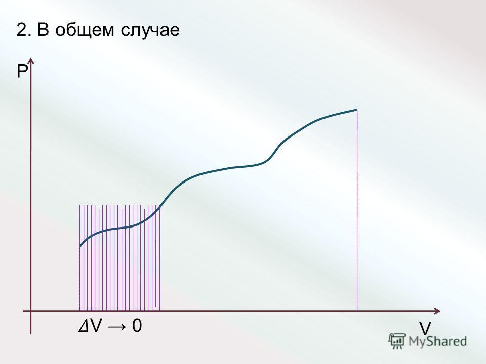 2. В общем случае P V V 0