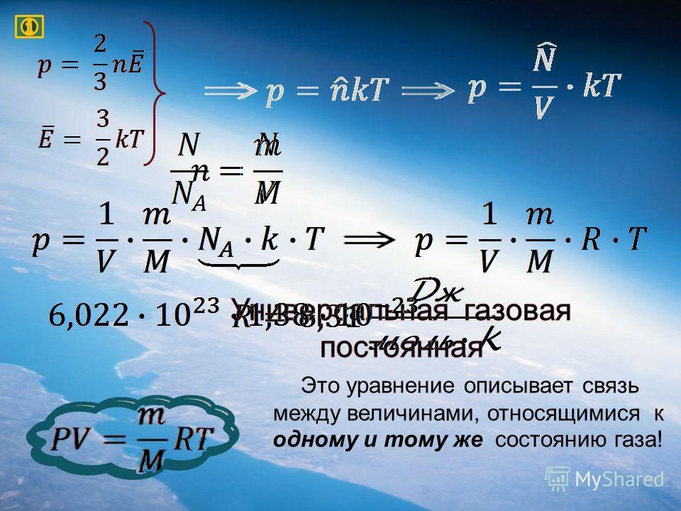 Это уравнение описывает связь между величинами, относящимися к одному и тому же состоянию газа!