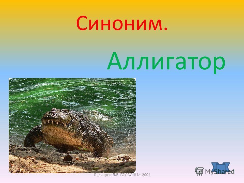 кр о к о дил Горчицкая Л.В. ГОУ СОШ 2001