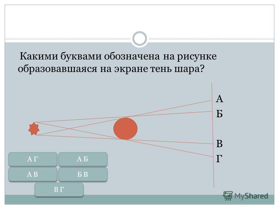 Вопрос Точечным или протяженным должен быть источник света, чтобы за освещаемым предметом были тень и полутень?