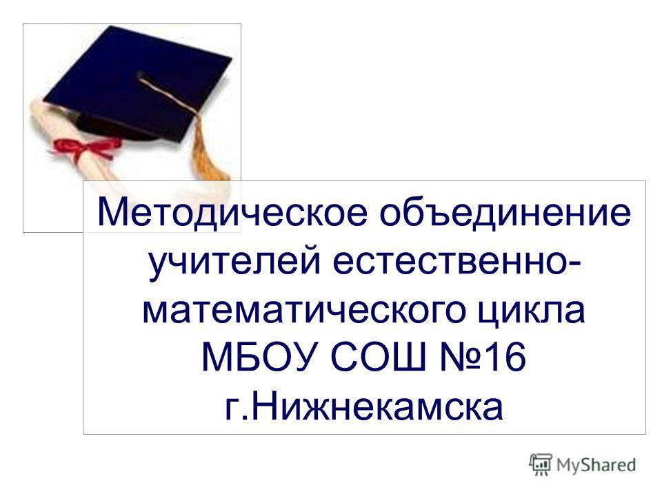 Методическое объединение учителей естественно- математического цикла МБОУ СОШ 16 г.Нижнекамска