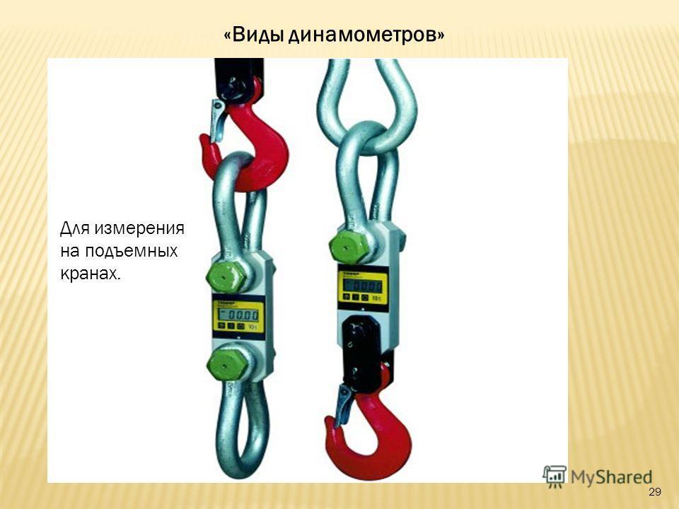 «Виды динамометров» Для измерения на подъемных кранах. 29