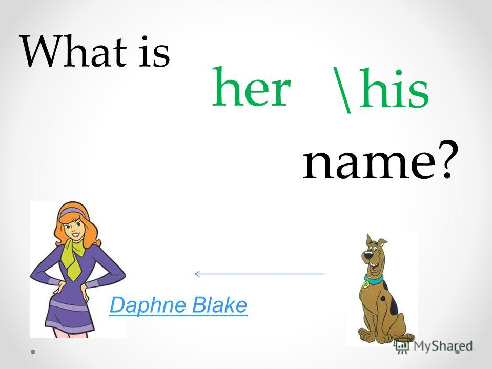 What is her \his name? Daphne Blake