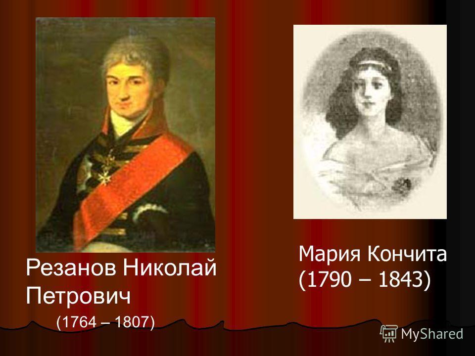 Резанов Николай Петрович (1764 – 1807) Мария Кончита (1790 – 1843)