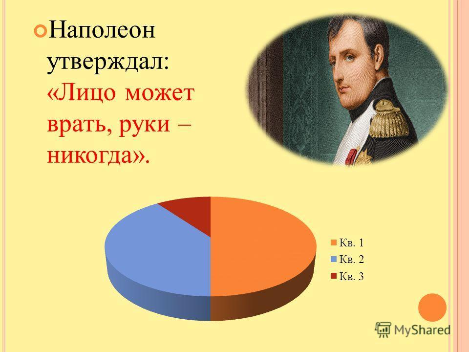 Наполеон утверждал: «Лицо может врать, руки – никогда».