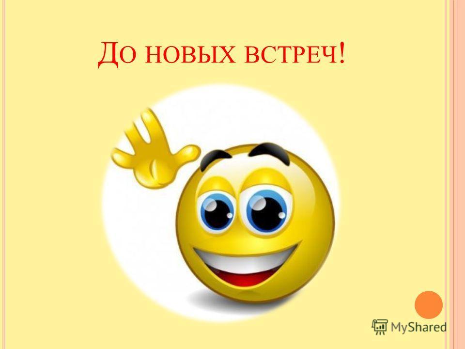 Д О НОВЫХ ВСТРЕЧ !