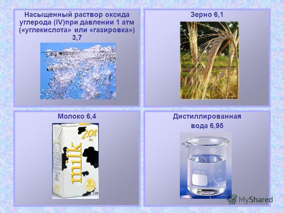 Столовый уксус 6%-ный 2,4 9%-ный 2,3 Яблочный сок «Антоновка» 2,5 «Коричное» 3,7 Сок щавеля 3,7Апельсиновый сок 4,2