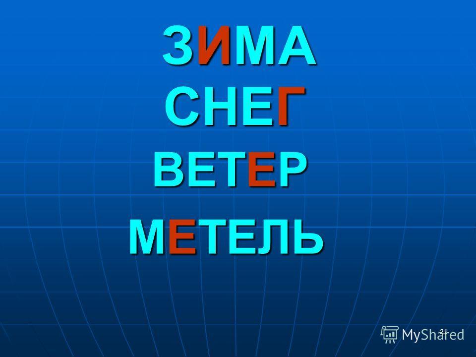 21 ЗИМА СНЕГ ВЕТЕР МЕТЕЛЬ