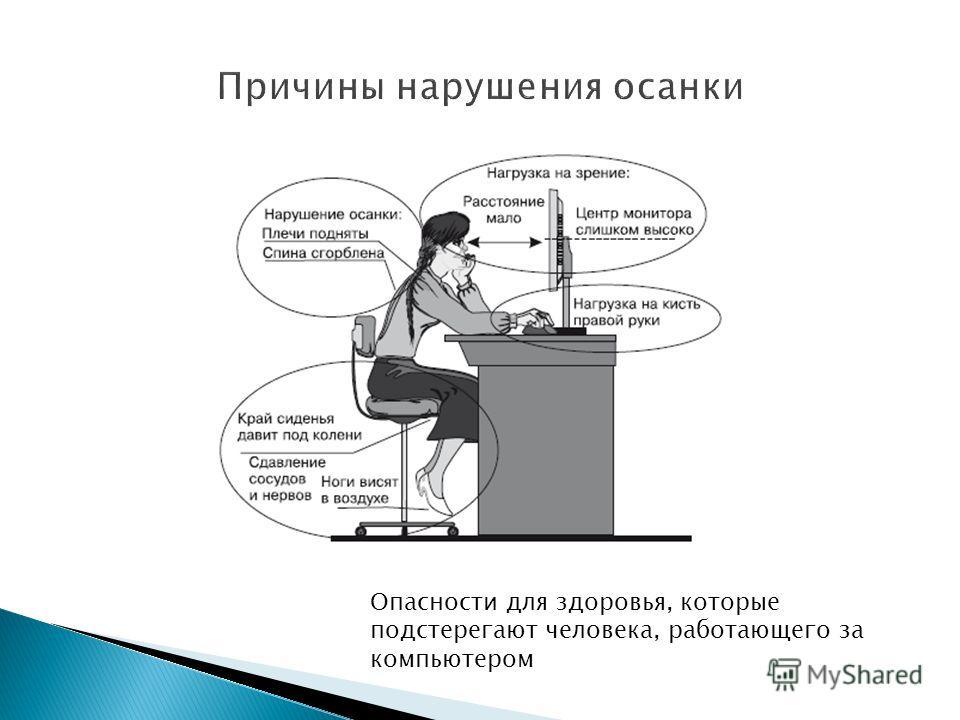 Опасности для здоровья, которые подстерегают человека, работающего за компьютером