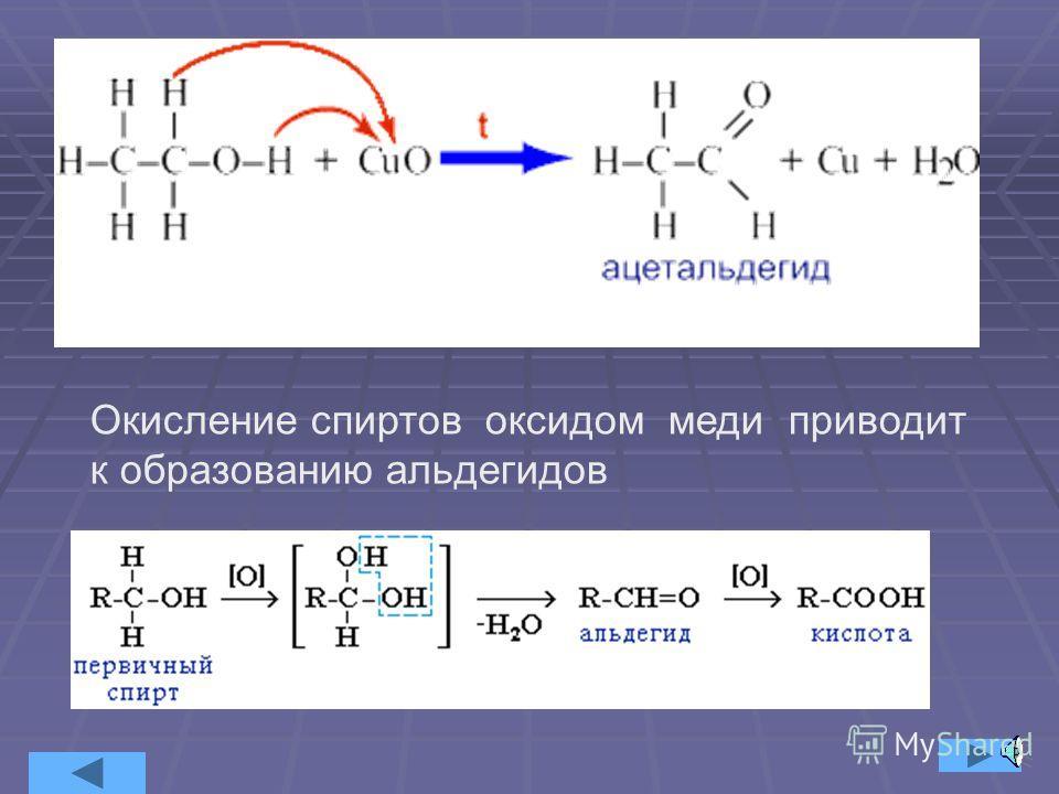 Окисление первичных спиртов до карбоновых кислот протекает при действии HNO 3 или перманганата калия в щелочной среде. Окисление вторичных спиртов приводит к образованию соответствующих кетонов.