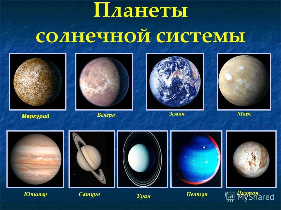 Планеты солнечной системы Венера Марс Земля Юпитер Уран СатурнНептун Плутон Меркурий