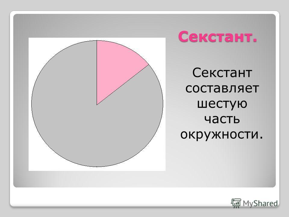Секстант. Секстант составляет шестую часть окружности.