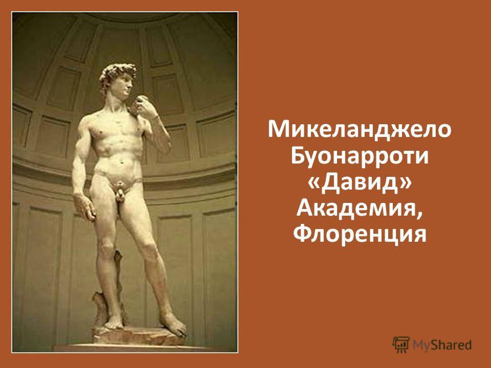 Микеланджело Буонарроти «Давид» Академия, Флоренция