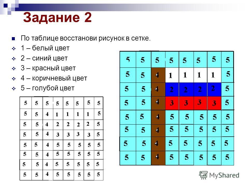 Кодирование информации 5 класс задания