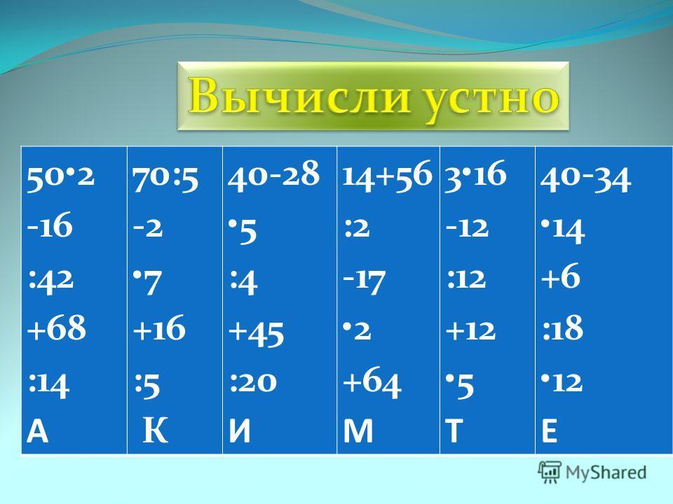 502 -16 :42 +68 :14 А 70:5 -2 7 +16 :5 К 40-28 5 :4 +45 :20 И 14+56 :2 -17 2 +64 М 316 -12 :12 +12 5 Т 40-34 14 +6 :18 12 Е