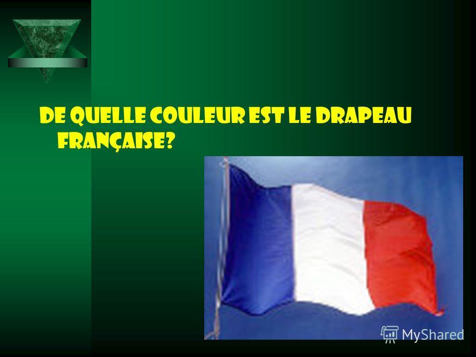 De quelle couleur est le drapeau française?