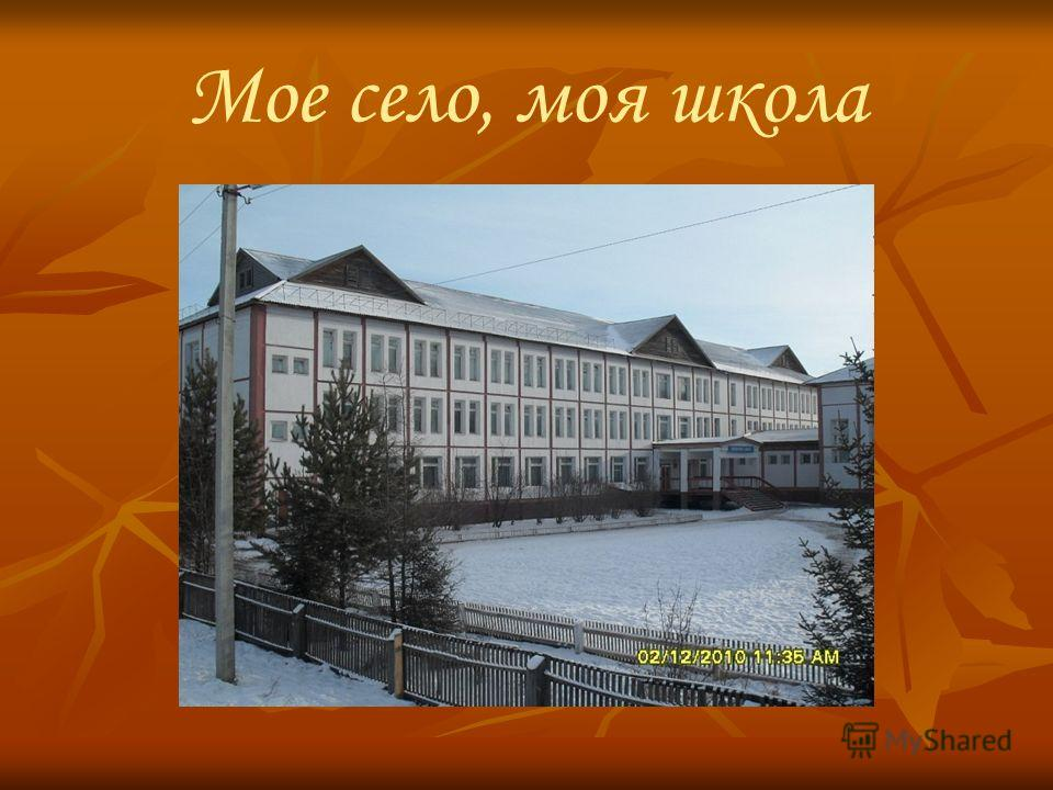 Мое село, моя школа