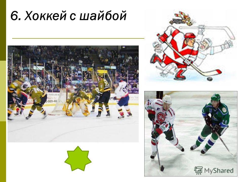 6. Хоккей с шайбой