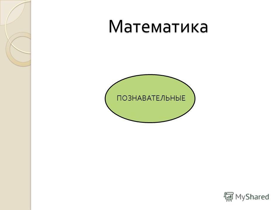 Математика ПОЗНАВАТЕЛЬНЫЕ