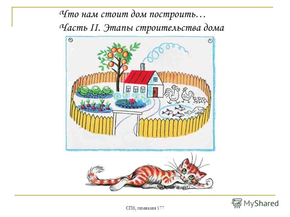 СПб, гимназия 177 Что нам стоит дом построить… Часть II. Этапы строительства дома