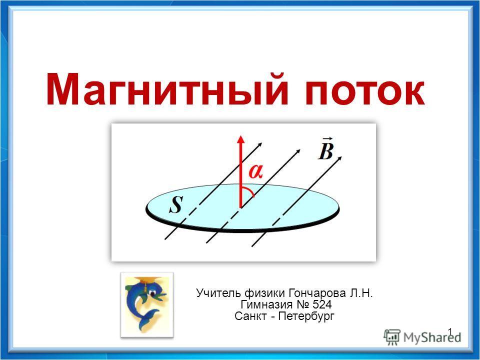 1 Магнитный поток Учитель физики Гончарова Л.Н. Гимназия 524 Санкт - Петербург