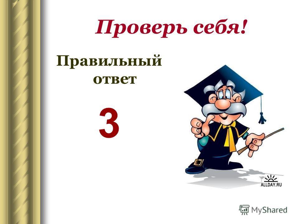 Проверь себя! Правильный ответ 3