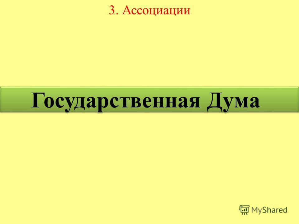 3. Ассоциации Государственная Дума