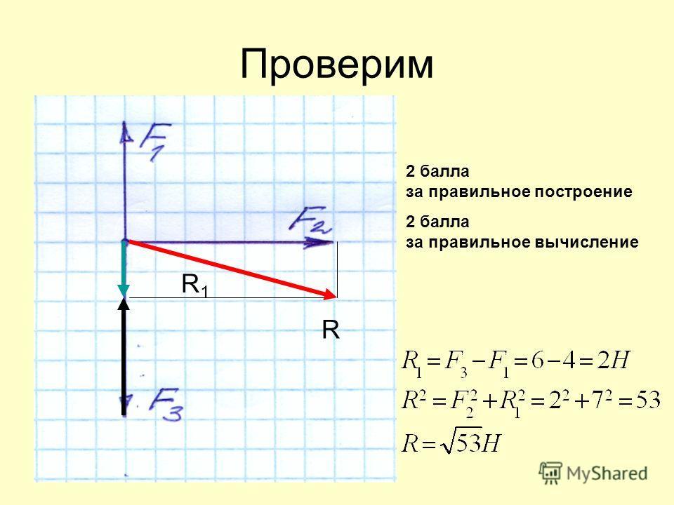 Проверим R1R1 R 2 балла за правильное построение 2 балла за правильное вычисление