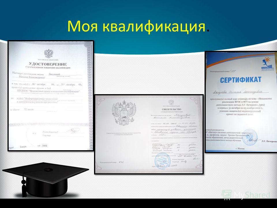 Моя квалификация.