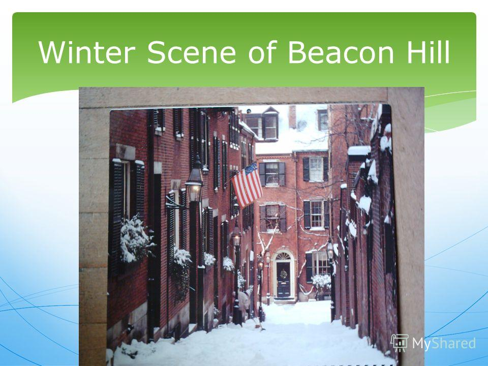 Winter Scene of Beacon Hill