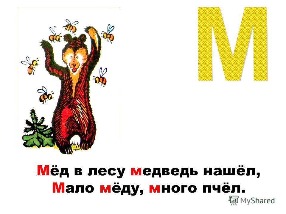 Мёд в лесу медведь нашёл, Мало мёду, много пчёл.