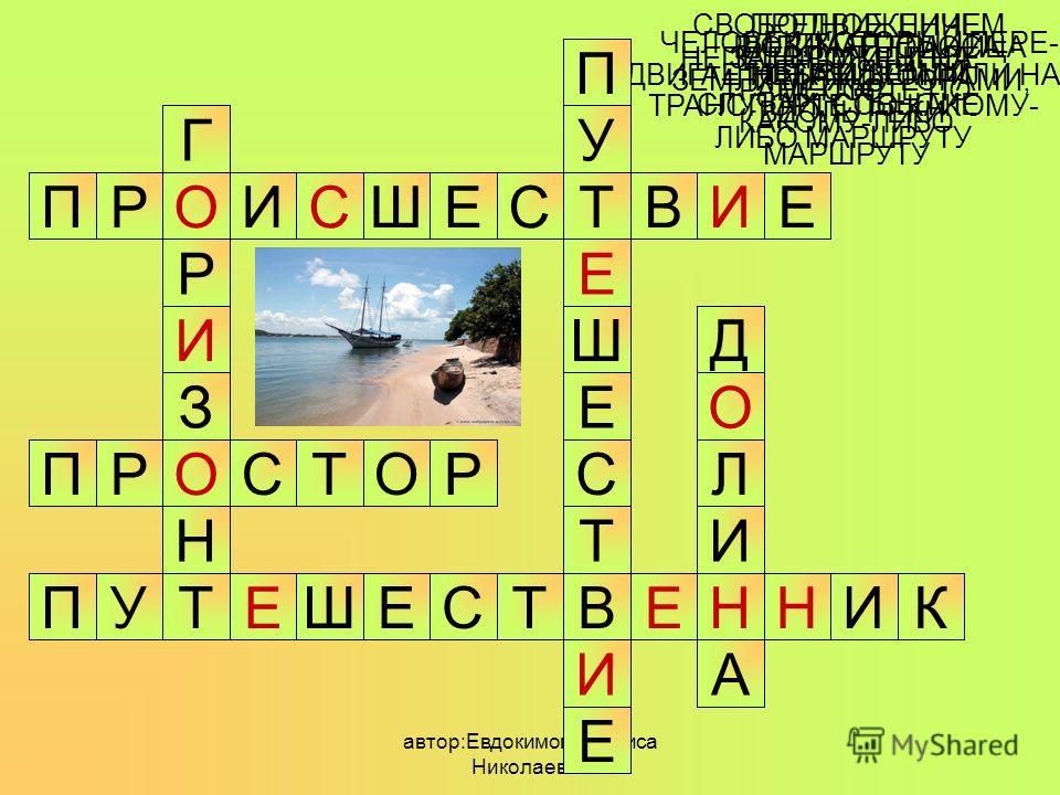 автор:Евдокимова Лариса Николаевна 1 3 2 1 2 3 НЕПРИЯТНЫЙ СЛУЧАЙ, СОБЫТИЕ ОРИСШЕСТВИПЕ СВОБОДНОЕ, НИЧЕМ НЕ ЗАГОРОЖЕННОЕ МЕСТО ОРОТСПР ЧЕЛОВЕК, КОТОРЫЙ ПЕРЕ- ДВИГАЕТСЯ ПЕШКОМ ИЛИ НА ТРАНСПОРТЕ ПО КАКОМУ- ЛИБО МАРШРУТУ УПКИННЕВТСЕШЕТ ВИДИМАЯ ГРАНИЦА НЕ