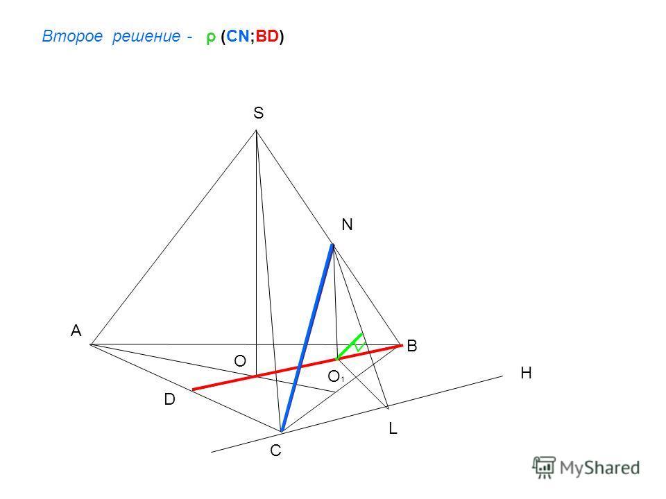 A B C S O Второе решение - ρ (CN;BD) N D H L O 1