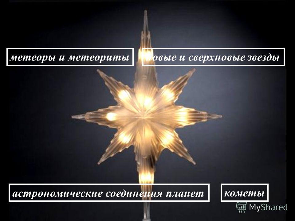 метеоры и метеоритыновые и сверхновые звезды астрономические соединения планеткометы