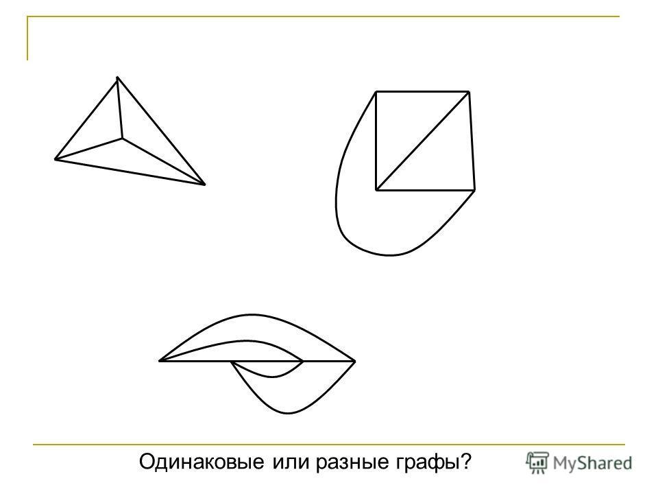 Одинаковые или разные графы?
