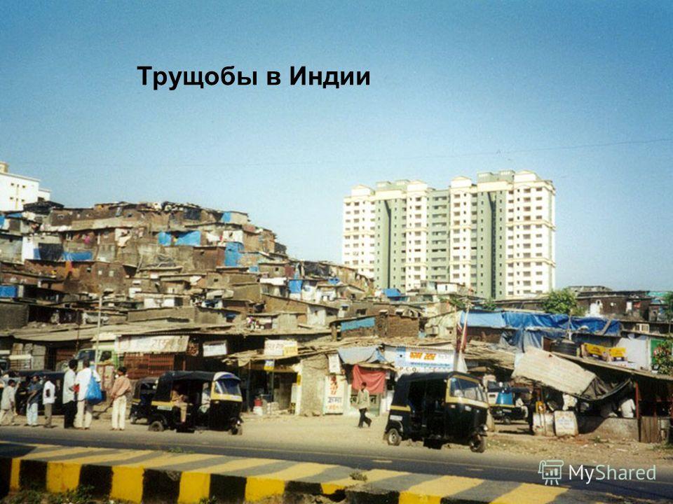 Трущобы в Индии