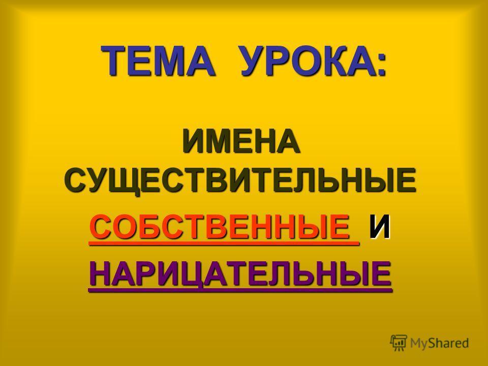 ИМЕНА СУЩЕСТВИТЕЛЬНЫЕ город страна планета Лихославль Россия Земля нарицательные СОБСТВЕННЫЕ