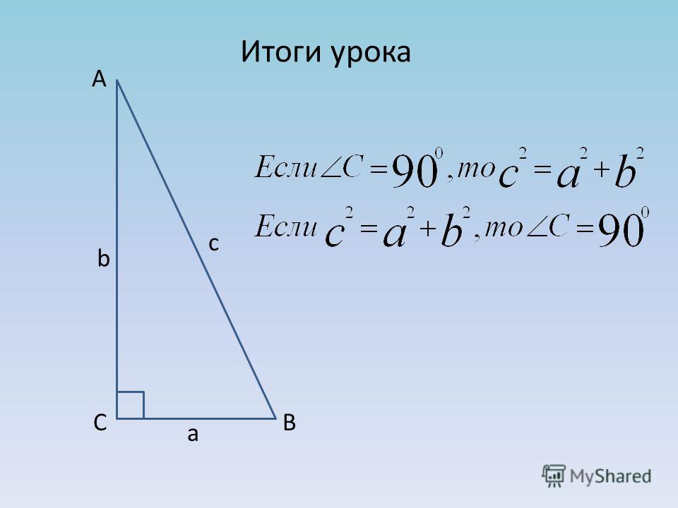 Итоги урока А В С с b a
