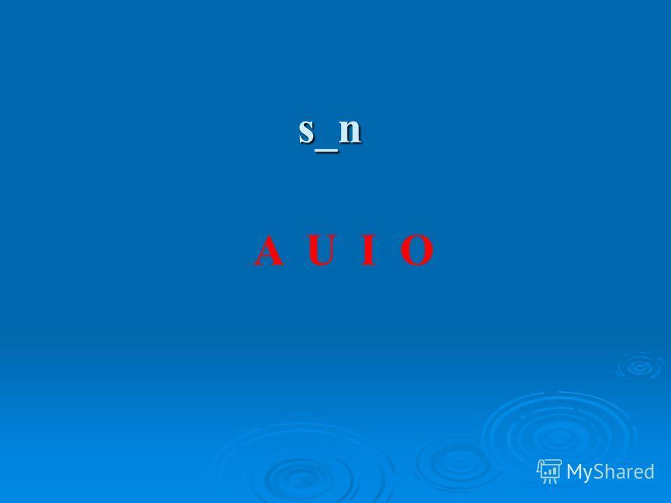 s_n A U I O
