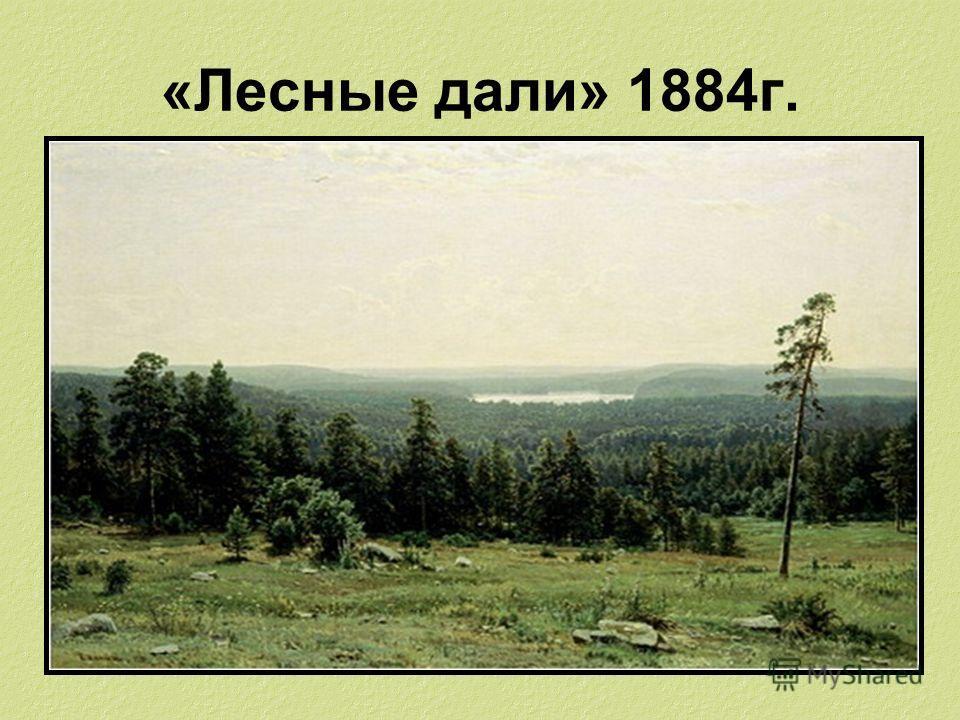 «Лесные дали» 1884г.