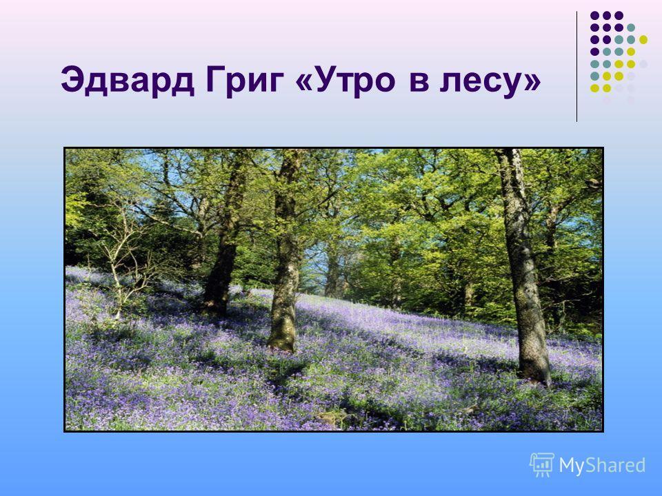 Эдвард Григ «Утро в лесу»