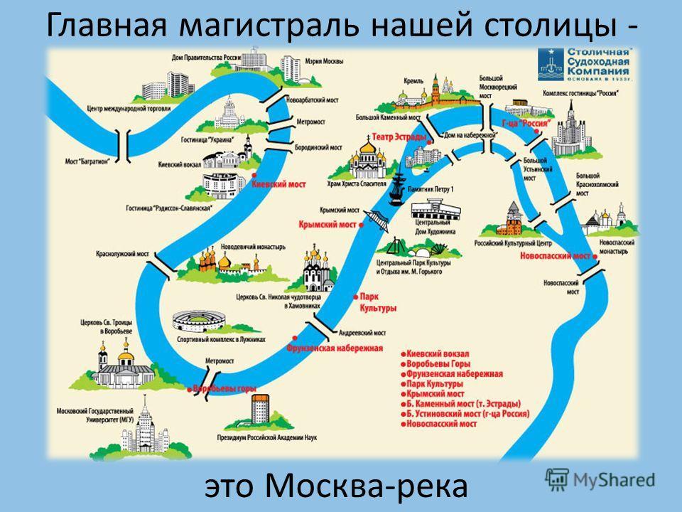 Главная магистраль нашей столицы - это Москва-река