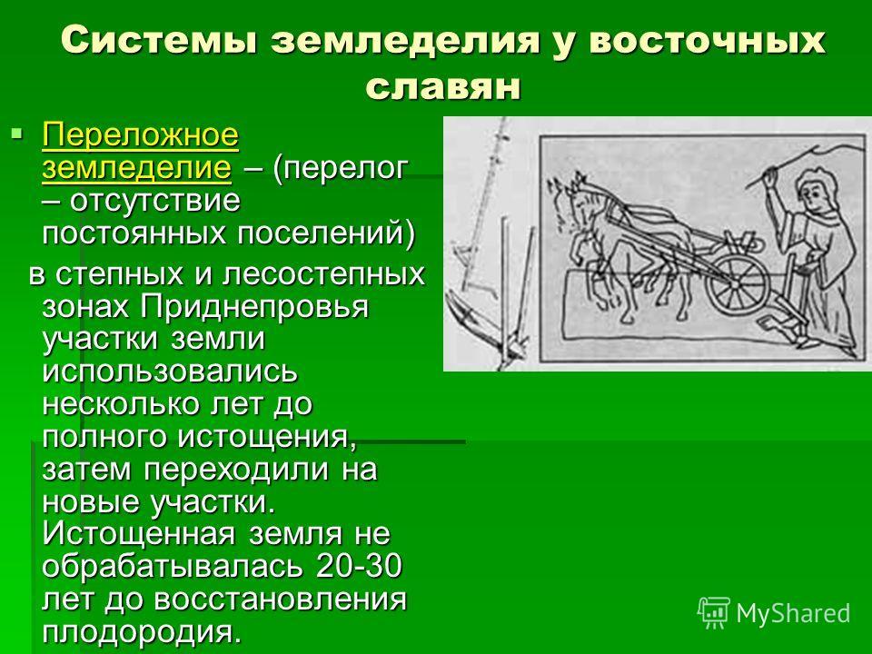 Системы земледелия у восточных