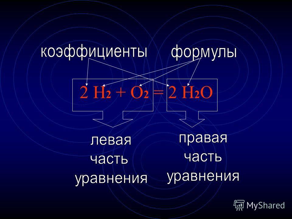 2 H 2 + O 2 = 2 H 2 O
