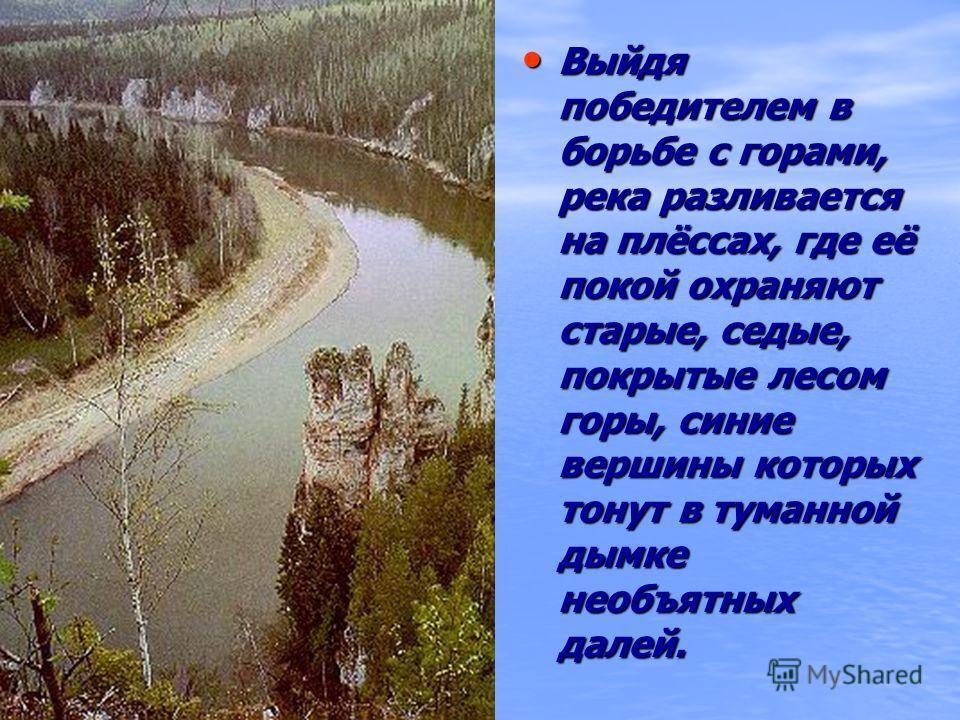 Суровую красоту реке придают скалы высотой до 100 м, порой так стесняющие её русло, что река превращается в стремительный, бешеный поток, с рёвом и свистом вырывающийся из каменных объятий. Суровую красоту реке придают скалы высотой до 100 м, порой т