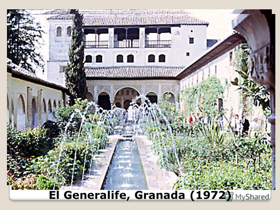 El Generalife, Granada (1972)