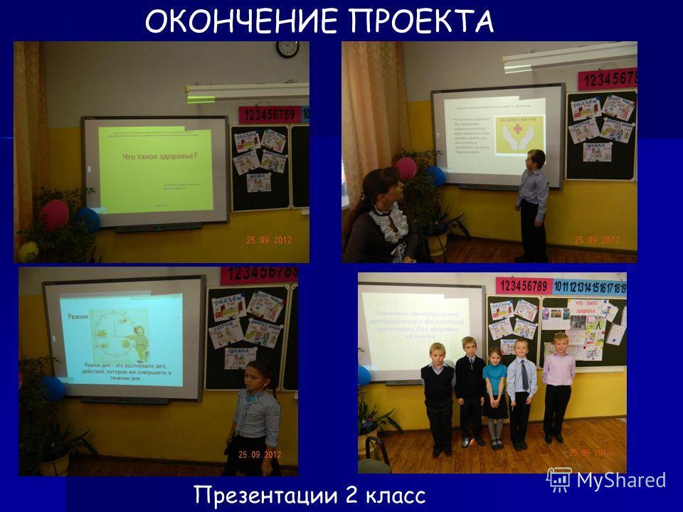 ОКОНЧЕНИЕ ПРОЕКТА Презентации 2 класс