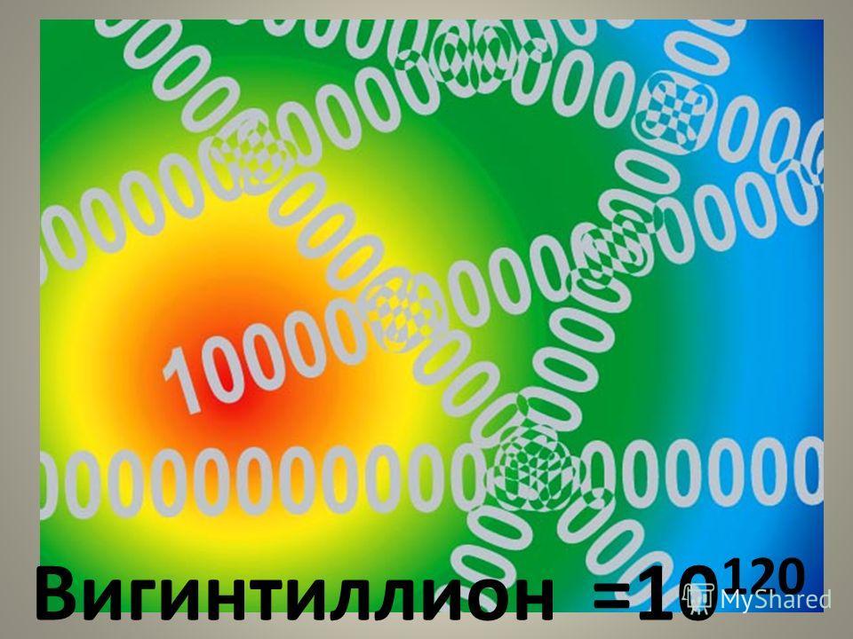 Вигинтиллион=10 120
